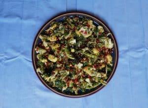 Cauliflower, Pomegranate and Pistachio Salad.